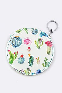 Cactus Print Coin Purse