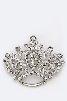 Royal Crown Crystal Brooch