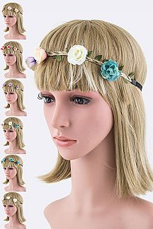 Flower & Braid Hemp Stretch Headband