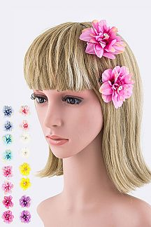 Flower Hair Clips Set