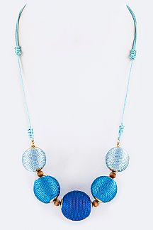 Yarn Balls Adjustable String Necklace