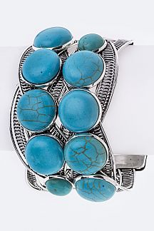 Layer Turquoise Braided Cuff