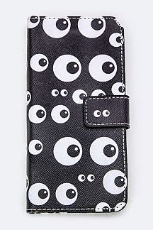 Comic Eyes Print Iphone 6S Fashion Case