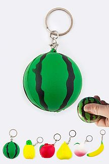 Fruit Stress Ball Key Charm