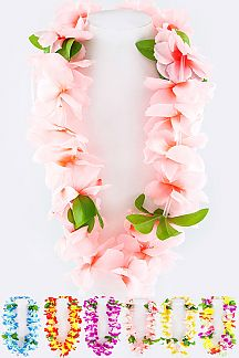 Assorted Colors Flower Necklace Set