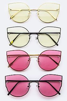 Color Lens Fashion Cat Eye Glasses