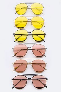 Color Tinted Aviator Glasses