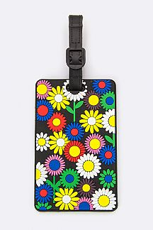 Flower Pattern Jelly Bag & Luggage Tag