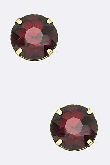 Jumbo CZ Stud Earrings