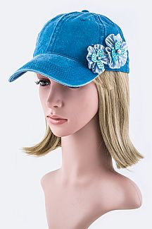 Double Flowers Fashion Cap