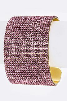 Crystals Layer Metal Cuff