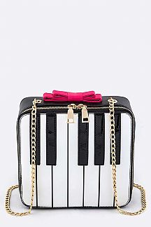 Piano Crossbody Box Clutch Bag