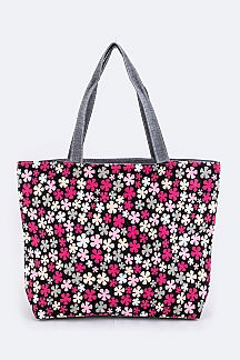Flower Pattern Fashion Tote