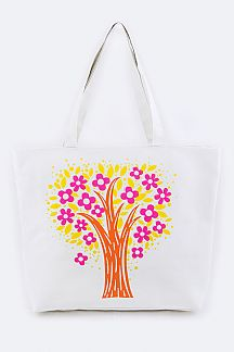 Tree Print Fashion Tote
