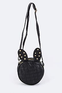 Studs & Quilted Bunny Crossbody Bag