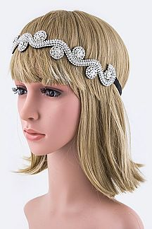 Crystal Swirl Stretch Headband