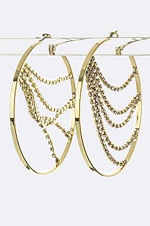 Crystal Layer Hoop Earrings