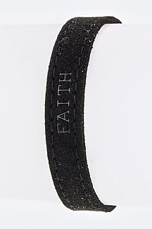 FAITH Embossed Suede Cuff