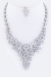 Marquise CZ Statement Necklace Set