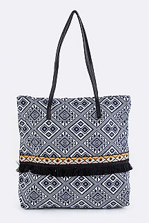 Tribal Mix Rhombus Pattern Tote