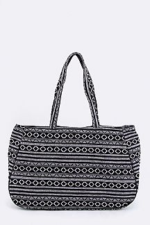 Tribal Geo Pattern Large Tote