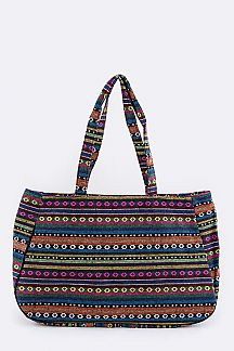 Tribal Pattern Large Tote