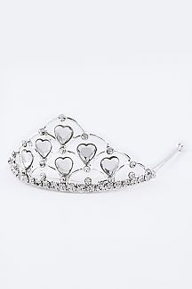 Small Crystal Heart Tiara