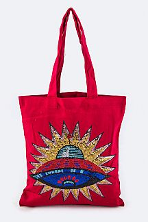 Sequins U.F.O Fashion Tote