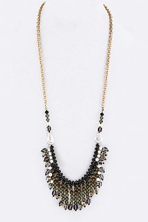 Pearl & Mix Beads Layer Necklace