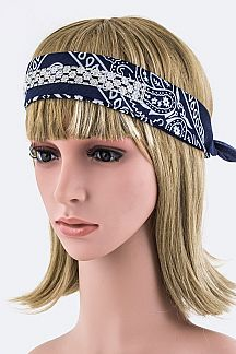 Convertible Crystal Bandana Headband