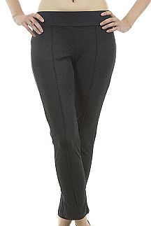 Boning Accent Super Soft Fitted Pants