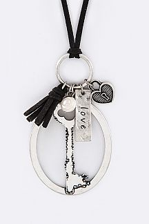 Love Mix Key & Lock Charms Necklace