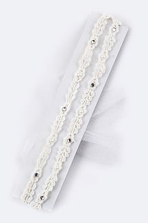 Kids Size Layer Lace Stretch Headband