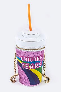 Unicorn Tears Jumbo Drink Cup Comic Clutch Bag