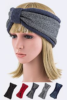 Lurex 2 Tone Winter Headband Set