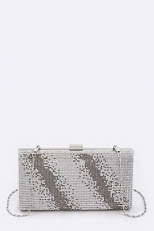 Pave Crystals Box Clutch