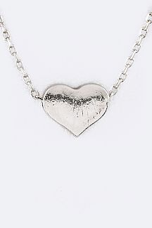 Petite Metal Heart Pendant Necklace