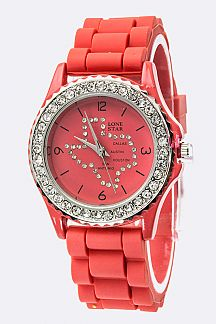 Texas Map Crystal Fahion Watch