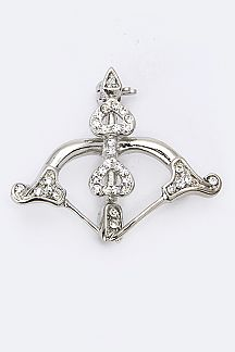 Crystal Cupid's Arrow Brooch