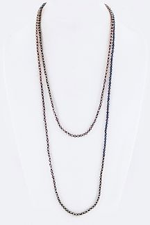 "60"" Long Mix Tone Beads Necklace"