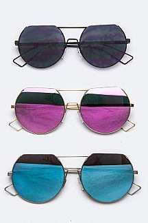 Iconic Flat Top Round Lens Sunglasses