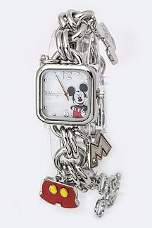 Mickey Mix Charms Chain Bracelet Watch