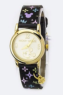 Mickey Monogram Strap Watch