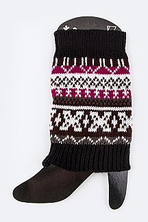 Aztec Pattern Leg Warmers