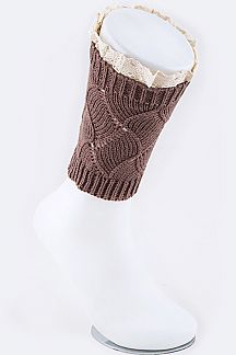 Vintage Lace Diamond Knit Boot Toppers
