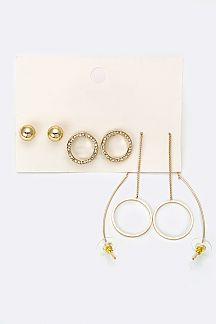 Mix Hoop Earrings Set