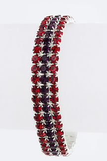 3 Row Rhinestones Stretch Bracelet