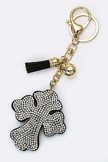 Crystal Cross Key Charm