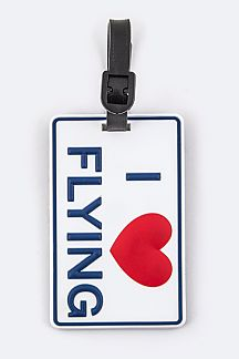 I LOVE FLYING Jelly Bag & Luggage Tag
