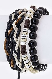 Bead & Braid Strings Bracelets Set
